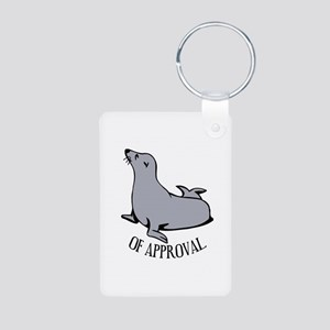 Seal of Approval Aluminum Photo Keychain