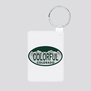 Colorful Colo License Plate Aluminum Photo Keychai