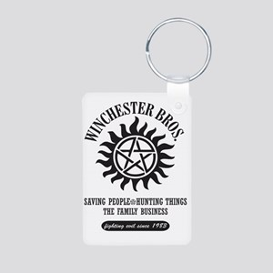 Winchester Bros. 12 Aluminum Photo Keychain
