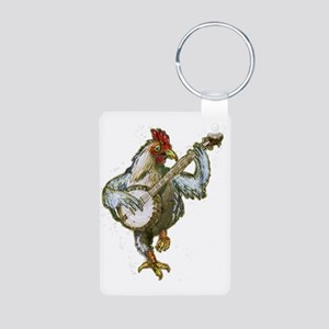 Banjo Chicken Aluminum Photo Keychain