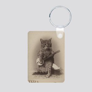 Cat_tee Aluminum Photo Keychain