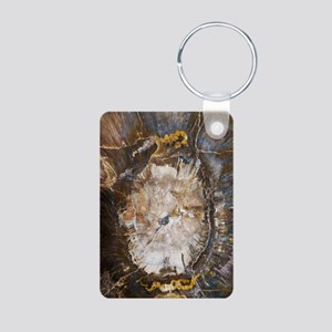 Petrified wood Aluminum Photo Keychain