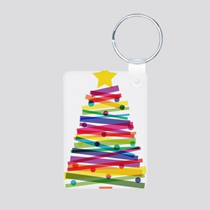 Colorful Christmas Tree Keychains