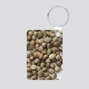 Hemp seeds Aluminum Photo Keychain
