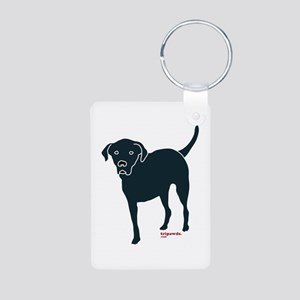 Tri-Lab Silhouette (Front) Aluminum Photo Keychain