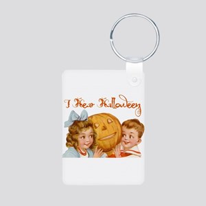 I hear Halloween Aluminum Photo Keychain