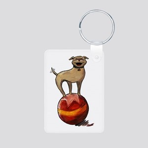 Tripawds Have A Ball Aluminum Photo Keychain