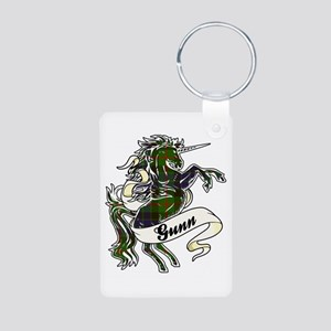 Gunn Unicorn Aluminum Photo Keychain