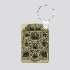 Our Generals Aluminum Photo Keychain