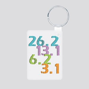 runner distances Aluminum Keychain