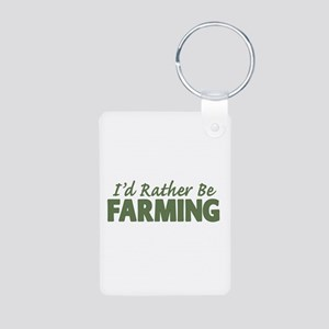 Id Rather Be Farming SOLID Aluminum Photo Keychain