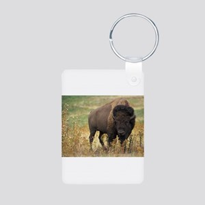 Bison Aluminum Photo Keychain