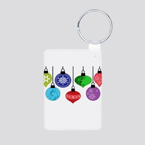 Christmas Ornaments Aluminum Photo Keychain