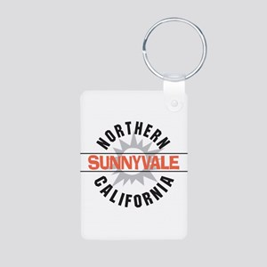 Sunnyvale California Aluminum Photo Keychain