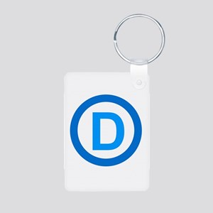 Democratic D Design Aluminum Photo Keychain
