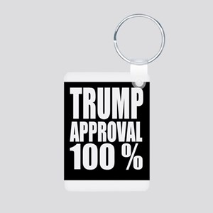 Trump Approval 100 Percent Keychains