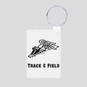 Track And Field Aluminum Photo Keychain