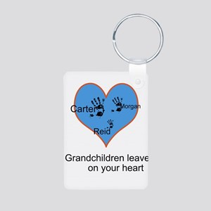 Personalized handprints Aluminum Photo Keychain