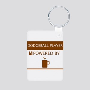 Dodgeball Player Powered by Coffee Aluminum Photo