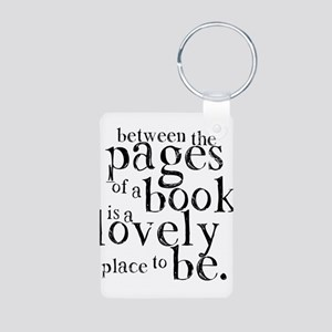 Between the Pages Aluminum Photo Keychain