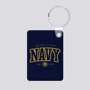 United States Navy Athleti Aluminum Photo Keychain
