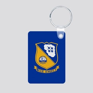 U.S. Navy Blue Angels Cres Aluminum Photo Keychain