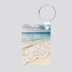 Beautiful Beach Aluminum Photo Keychain