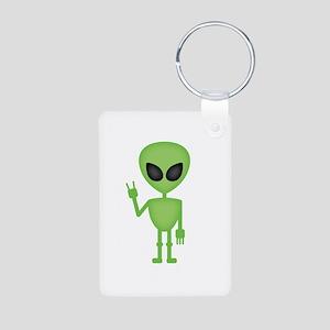 Aliens Rock Aluminum Photo Keychain
