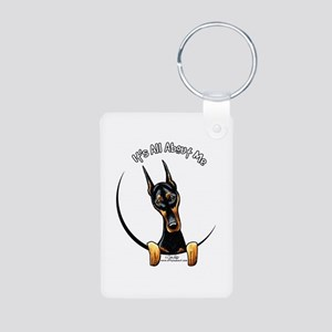 Doberman IAAM Aluminum Photo Keychain