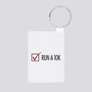 Run a 10k Aluminum Photo Keychain
