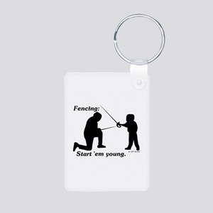 Young Aluminum Photo Keychain