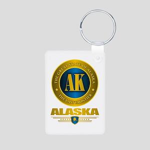 Alaska Aluminum Photo Keychain