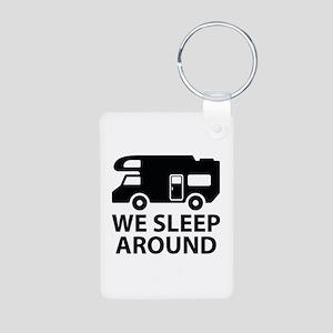 We Sleep Around Aluminum Photo Keychain