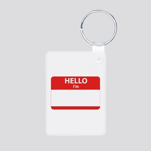 Hello I'm ... Aluminum Photo Keychain