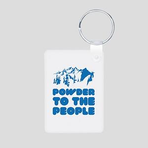 Powder To The People Aluminum Photo Keychain