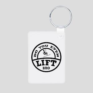 Do You Even Lift Bro? Aluminum Photo Keychain