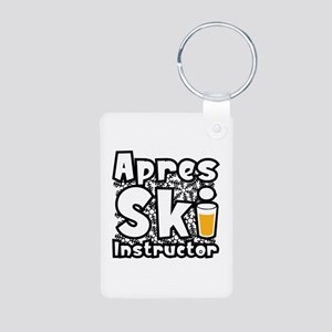Apres Ski Instructor Aluminum Photo Keychain