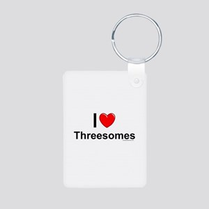 Threesomes Aluminum Photo Keychain