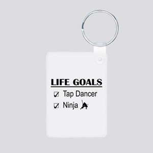 Tap Dancer Ninja Life Goal Aluminum Photo Keychain