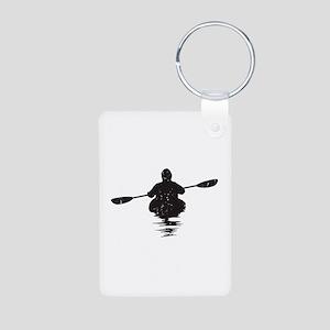 Kayaking Aluminum Photo Keychain