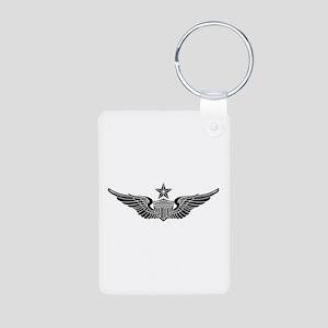 Aviator - Senior B-W Aluminum Photo Keychain