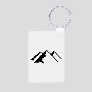 Mountains Aluminum Photo Keychain