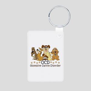 OCD Obsessive Canine Disor Aluminum Photo Keychain