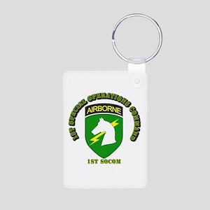 SOF - 1st SOCOM Aluminum Photo Keychain