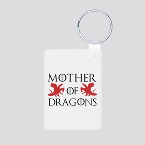 Mother Of Dragons Aluminum Photo Keychain