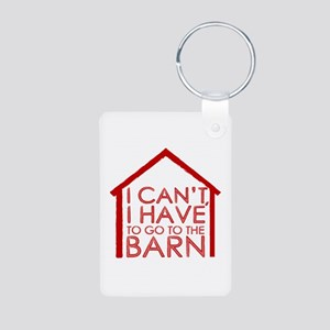 To The Barn Aluminum Photo Keychain