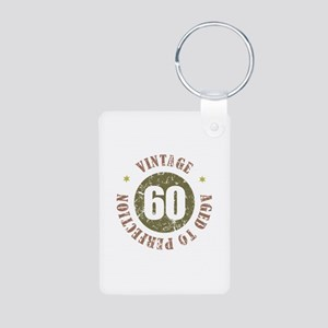 60th Vintage birthday Aluminum Photo Keychain