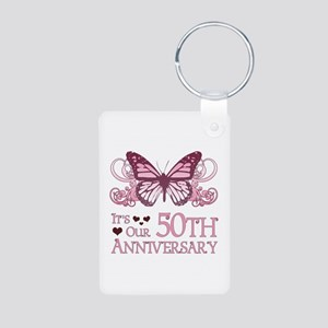 50th Wedding Aniversary (Butterfly) Aluminum Photo