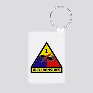 1st Armored Division Aluminum Photo Keychain