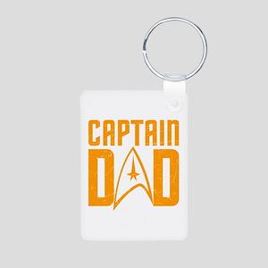 Captain Dad Aluminum Photo Keychain